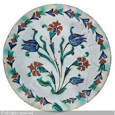 IZNIK CERAMIC, 17 > (Turkey)  Title : A DISH  Date : ca 1650  A DISH sold by Christie's, London, on Tuesday, April 13, 2010