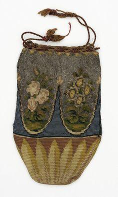 Woman's Reticule, Unknown, Probably France, circa 1800, Costumes, Silk, metallic thread.