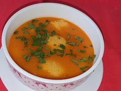 Lulu - Povesti din Bucatarie: Supa de rosii guacamole Guacamole, Thai Red Curry, Ethnic Recipes, Food, Essen, Meals, Yemek, Eten