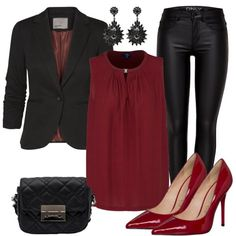 Evening Outfits: GetReady at FrauenOutfits.de Evening Outfits: GetReady at FrauenOutfits. Mode Outfits, Chic Outfits, Fashion Outfits, Womens Fashion, Woman Outfits, Stylish Work Outfits, Stylish Tops, Trendy, Legging Outfits