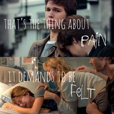 Don't be afraid to feel the pain of life. Without trials we would not learn. Star Quotes, Film Quotes, Book Quotes, John Green Quotes, John Green Books, Hazel And Augustus, Fault In The Stars, Augustus Waters, This Is A Book