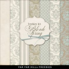 Far Far Hill: New Freebies Papers Kit - Blonde Spring