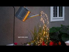 Glowing Watering Can Made with Fairy Lights - YouTube