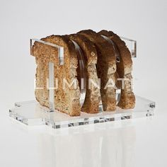T O A S T clear acrylic toast rack!  Designed and manufactured in the UK.