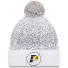 pretty nice 96362 f3122 Men s Indiana Pacers New Era White On-Court Cuffed Knit Hat With Pom,  29.99