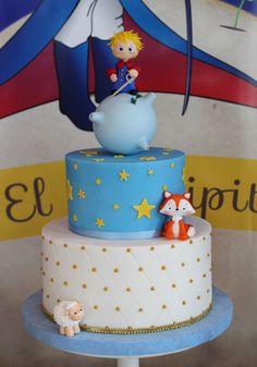 The Little Prince Cake / Torta El Principito Violeta Glace Prince Birthday Party, Baby Boy Birthday, 1st Birthday Parties, Little Prince Party, The Little Prince, Baby Shower Parties, Baby Boy Shower, Shower Party, Birhday Cake