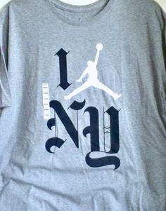 d5b986604ae4da Nwt nike air jordan i love new york ny grey navy white t-shirt 845832-063  3xl
