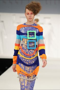 My collection at GFW #fashion #design #knitwear #neon #brightcolours #print #kellimcguinness