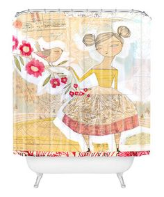 Sweeten décor with a touch of lovely design. Fresh and lively, this shower curtain is custom printed for each order through a six-color dye process and even features buttonhole openings for quick and easy installation.