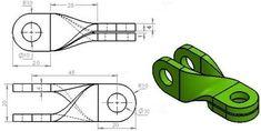 Teknik Resim Görünüş Çıkarma Örnekleri. Örnek Çizimler   Makine Eğitimi Engineering Notes, Mechanical Engineering Design, Mechanical Design, Cad Drawing, Drawing Sketches, Drawings, Orthographic Drawing, Drawing Exercises, Drawing Practice