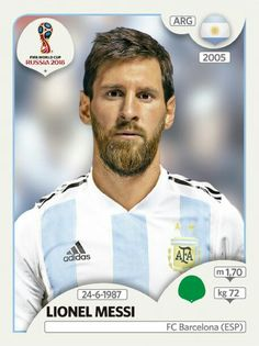 Lionel Messi (Argentina) Panini Fifa World Cup Russia 2018 Sticker by StickersMasters on Etsy Messi Argentina, Time Da Argentina, Argentina World Cup, Argentina Football, Uefa Football, Soccer Fifa, Messi Soccer, Football Icon, World Cup Russia 2018