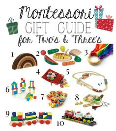 Montessori Christmas Gift Guide for Two & Three Year Old's
