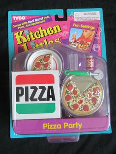 Kitchen Littles by Tyco Pizza Party Set, 1995