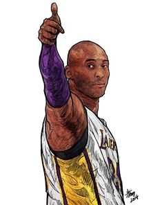 Kobe Bryant 'Thumbs Up' Illustration