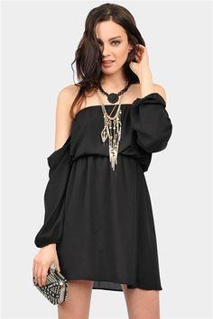 Perfection Off The Shoulder Dress - Black