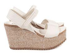 Dorothy pebbly sandal in white leather I Pedro García shoes I Spring-Summer 2016 I Made in Spain