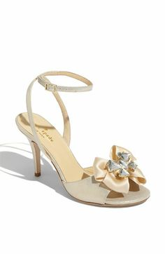 Kate Spade (who else)  satin, suede, jewels... and an ankle strap!? Unnngh