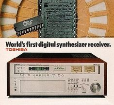 TOSHIBA SA-7150 - World's First Digital Synthesizer Receiver.