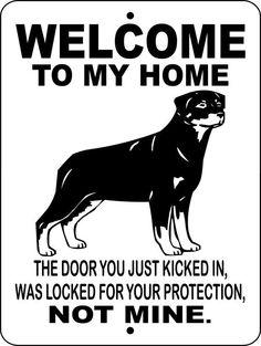 ROTTWEILER Dog Sign 9x12 ALUMINUM wtmhrot by animalzrule on Etsy