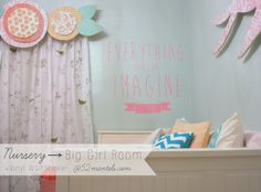 52 Mantels: A Nursery to a Big-Girl Room + Icon Wall Stickers Giveaway!