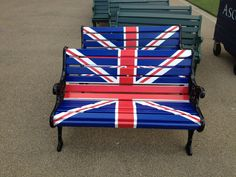 park bench's. all things union jack