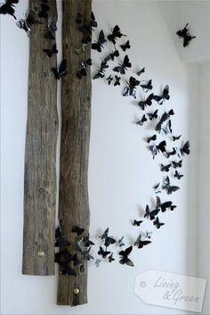 Der Flur: Kleiner Raum ganz groß - Schmetterlinge aus Dosen