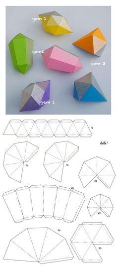 papier fragile gems, add glitter or metallic spray paint!