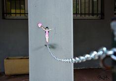 Arte urbano con mucho humor de la mano de oakoak