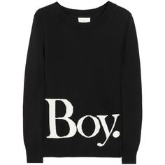 Boy. by Band of Outsiders Intarsia wool sweater ($400) ❤ liked on Polyvore featuring tops, sweaters, shirts, jumpers, band of outsiders, intarsia sweater, wool tops, cream top and wool shirt
