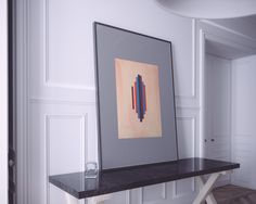 'Pillars in pink' is a fine art print of an original hand crafted painting made with ink, watercolour and gouache paint. Premium quality, this print has a superb depth in colour and lasts a lifetime.  #interior #interiordesign #fineart #giclee #print #design