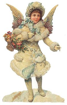 Victorian Angel Scrap Made In Germany Large Lithograph Die Cut Christmas Or Easter 5102 Holiday Images, Vintage Christmas Images, Victorian Christmas, Christmas Pictures, Vintage Images, Snow Angels, Christmas Angels, Christmas Art, Vintage Ephemera