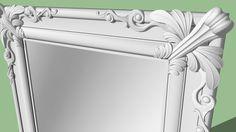 Amplia vista previa del modelo 3D de Baroque Mirror 3D