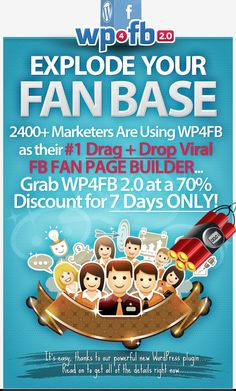 The easy way to create viral fan bases Best Facebook, Facebook Fan Page, Wordpress Plugins, Create, Easy, Design, Products, Design Comics, Beauty Products