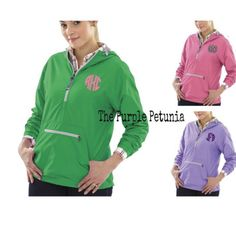 Charles River Chatham rain jacket in purple, free, pink, and navy