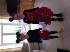 DIY Mickey & Minnie Mouse costumes  @Carol Stivrins - more inspiration