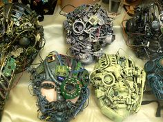 The Cyber themed mask making - perfect for geeky and creative teens!