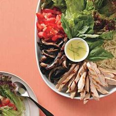 Italian-Style Grilled Chicken Lettuce Wraps are great for a family-style meal