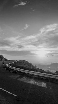 The Runner Mountain Jogging Sun Morning Nature Dark #iPhone #5s #wallpaper