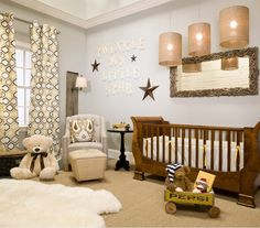Love this nursery (especially the horizontal mirror) - Lullaby Paints