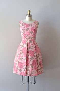 vintage 1960s dress / floral 60s party dress / Love by DearGolden, $120.00