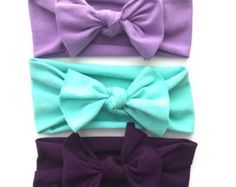 Flower Jersey Headband // Baby Girl Headband // by jumpingjackjack