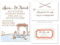 Printable Wedding Invitations A Little Canoe by overthemooninvites, $75.00