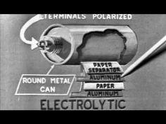 Electronics: Capacitors 1965 US Air Force Training Film: http://youtu.be/2bBifpRa890 #capacitors #electronics #training