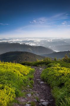 Czech Republic, Beskydy Mountains Photos Milan Sofer . Cestou na Kobylanku