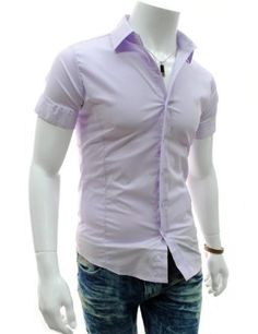 Mens casual slim fit basic dress shirts