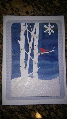 Winter birthday card