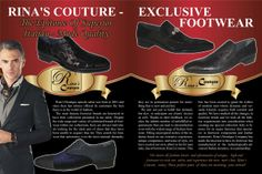 Shop for authentic Men shoes and clothing,Rina's Couture shoes and clothing designer italian shoes and clothing at Rina Store online shop Couture Shoes, Italian Shoes, New Man, All Fashion, Fashion Boutique, Designer Shoes, Invite, Fall Winter, Footwear