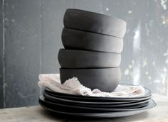 Ramen bowls set, White ceramic bowls, Set of four bowls Grand Bol, Contemporary Ceramics, Contemporary Design, Ramen Bowl, Nesting Bowls, Ceramic Bowls, Stoneware, Bowl Set, Safe Food