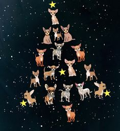 Happy Christmas....chihuahua tree
