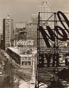 Columbus Circle, Manhattan, 1938, by Berenice Abbott - 20x200 (from $24)